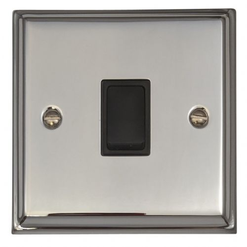 G&H DC1B Deco Plate Polished Chrome 1 Gang 1 or 2 Way Rocker Light Switch